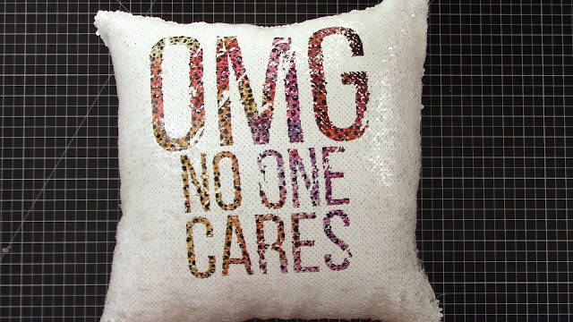 infusible ink, sequin pillows, cricut infusible ink, project idea, sublimation