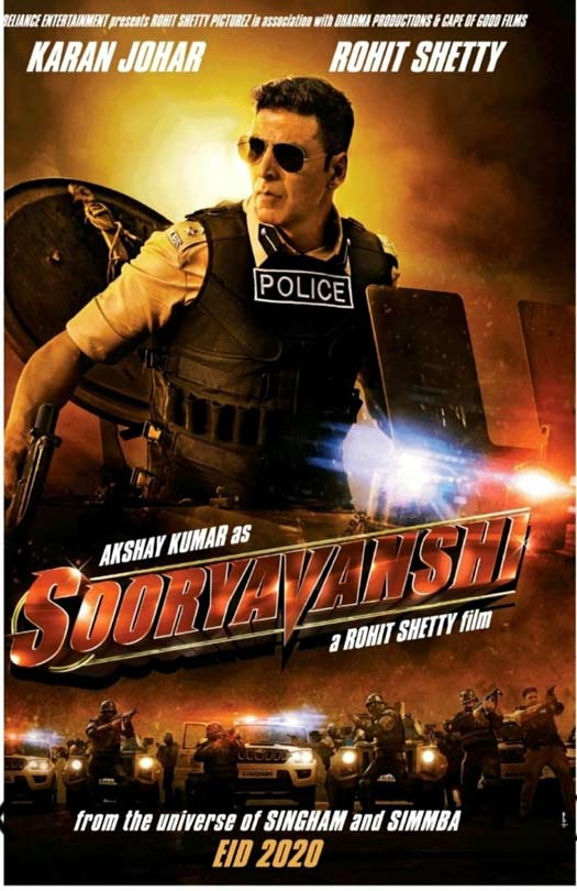 Akshay, Katrina New Upcoming movie with Rohit Shetty's Next Sooryavanshi latest poster release date star cast
