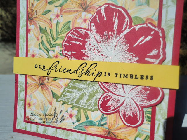 Stampin' Up!'s Timeless Tropical bundle and Tropical Oasis Designer Series Paper friendship card
