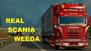 Scania 124L Weeda Holland mod
