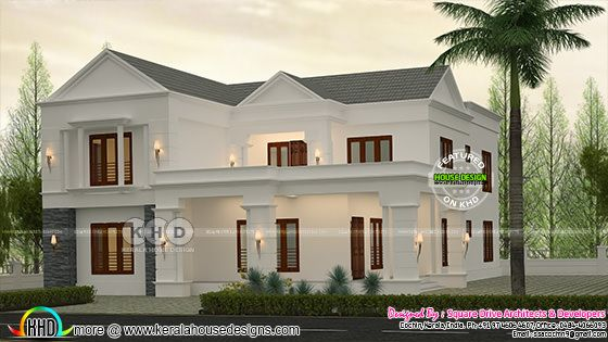 Luxurious 7 bedroom sloping roof home