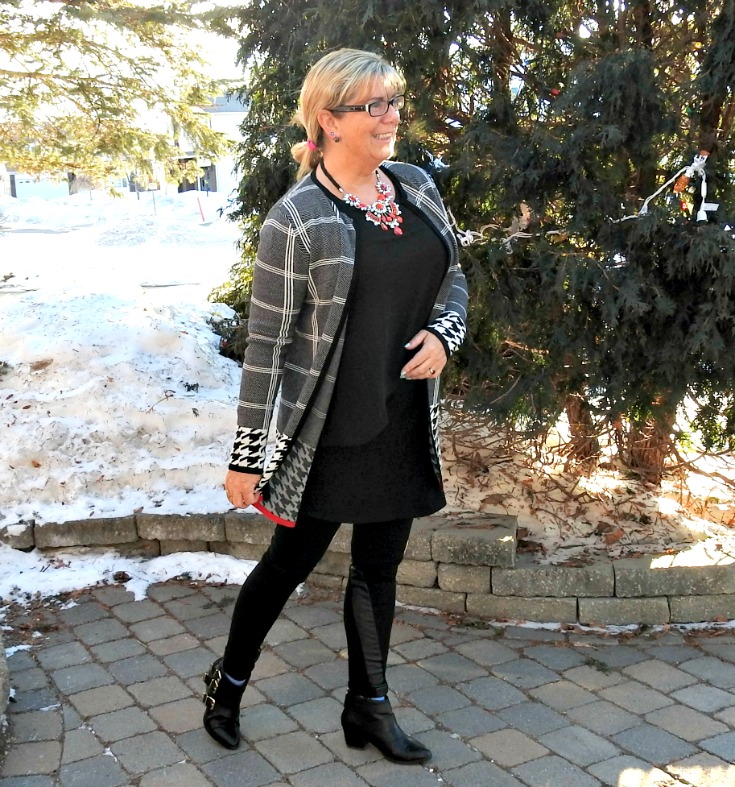 Laura Sweater and a 7 charming sisters necklace with svelte leggings