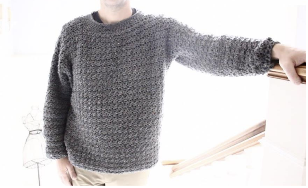 7f647c3bfe1f Annoo s Crochet World  Manly Man Easy Crochet sweater