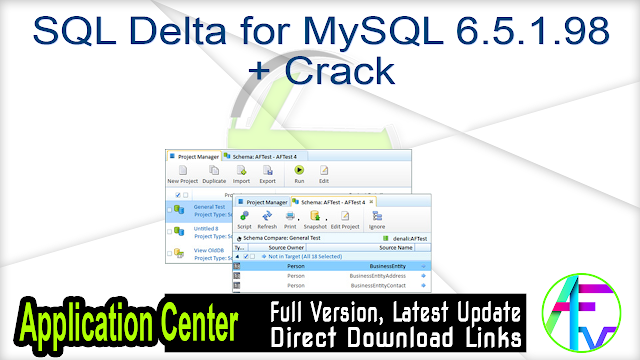 SQL Delta for MySQL 6.5.1.98 + Crack