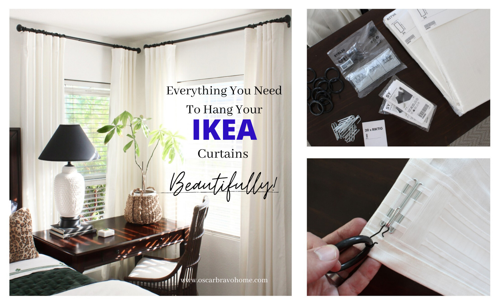 everything i used to hang my ikea curtains