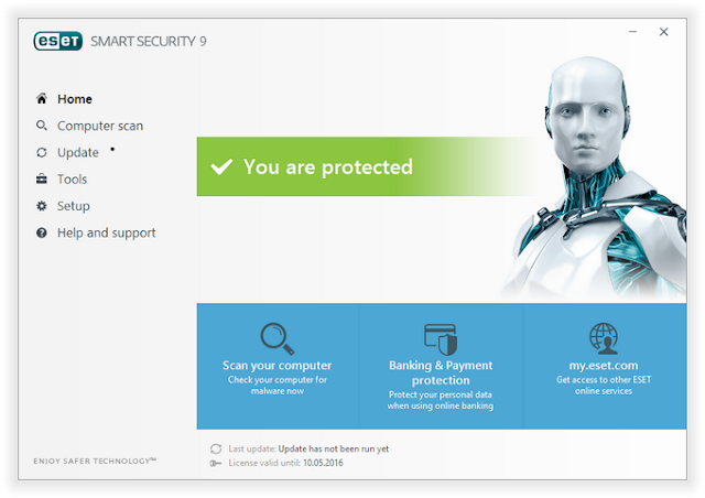 ESET Smart Security 9 Username And Password 2016