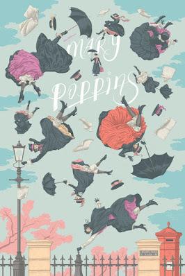 Disney's Mary Poppins Screen Print by Jonathan Burton x Mondo