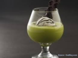 How to make Avocado float with chocolate coffee sauce