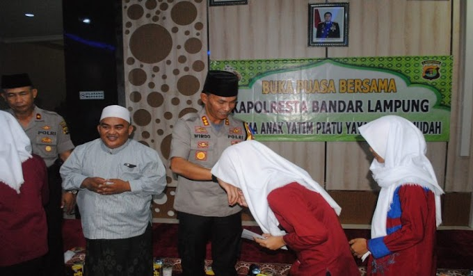 Wujud Kepedulian, Kapolresta Bandar Lampung Gelar Buka Bersama Anak Yatim
