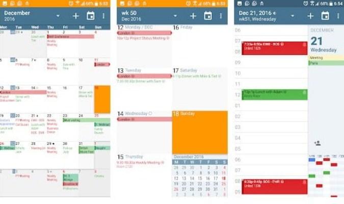 Aplikasi Kalender untuk Smartphone Android - aCalendar