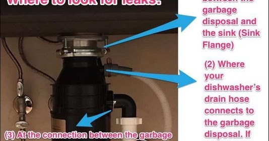 Garbage Disposal Leaking From Bottom Cord