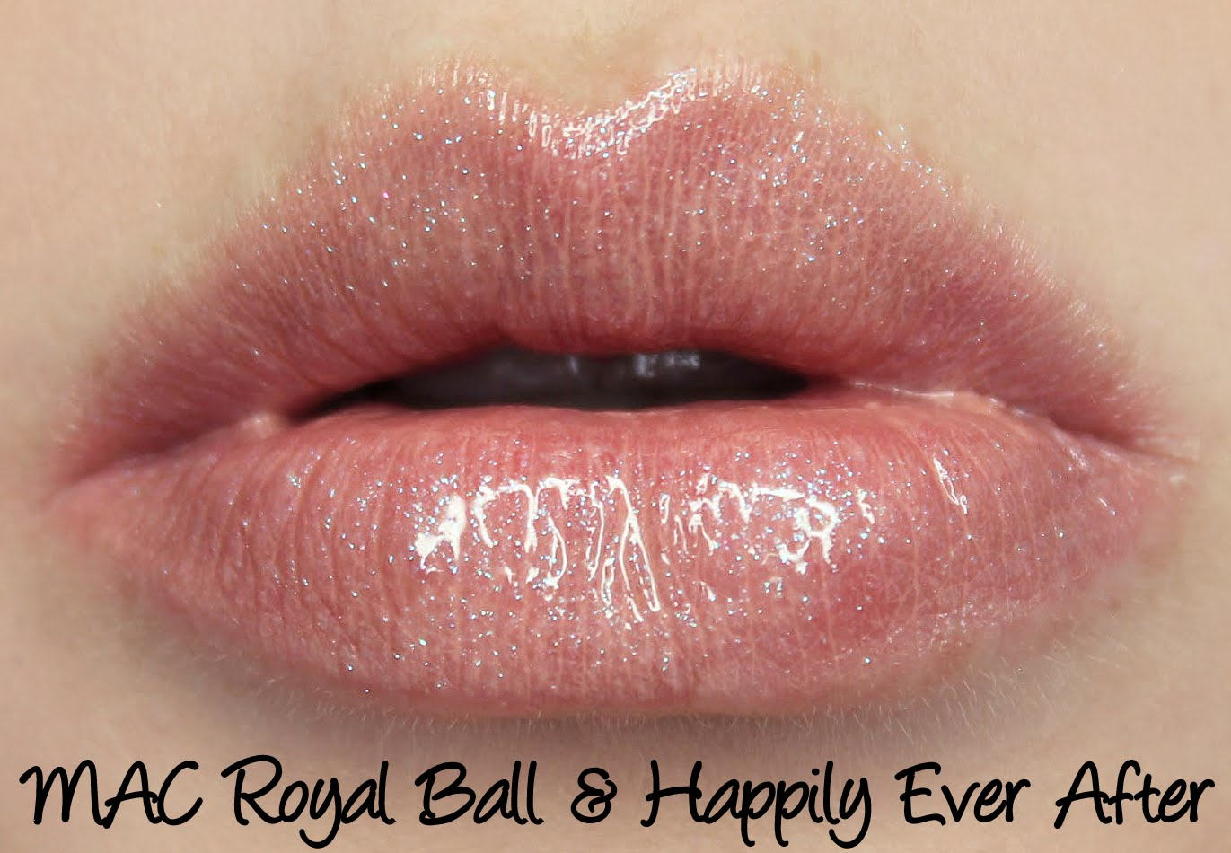 MAC Cinderella - Royal Ball lipstick & Happily Ever After lipglass swatches