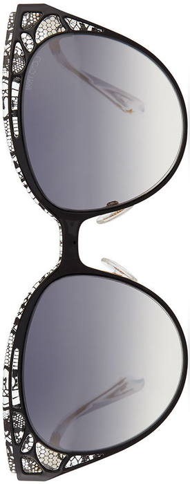 Jimmy Choo Estelle Lace-Pattern Cat-Eye Sunglasses