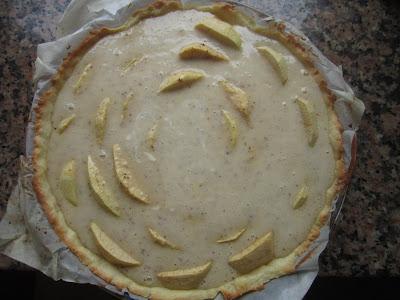 Garniture tarte aux pommes normande