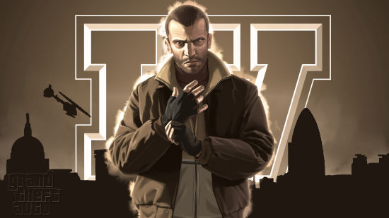 GTA - Grand Theft Auto 4 - Niko Bellic Et Un Hélicoptère - Full HD 1080p