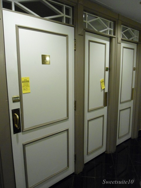Four Season's Toronto bathroom stall doors
