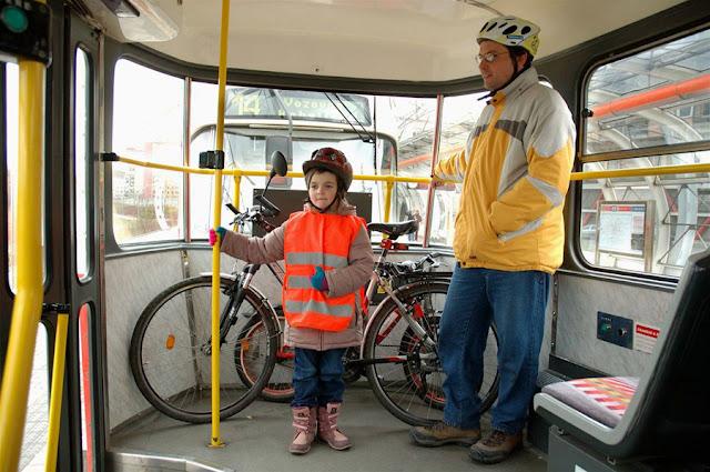 велосипед в трамвае
