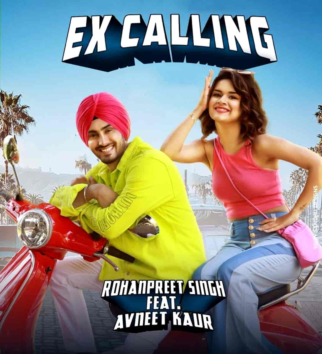 Ex Calling Punjabi Song Image Features Rohanpreet and Avneet Kaur