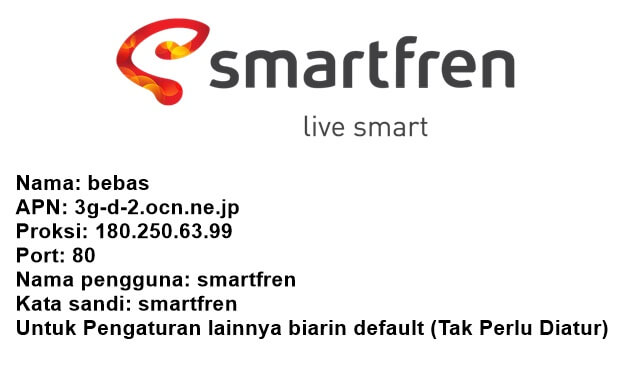 cara setting apn smartfren 4g unlimited