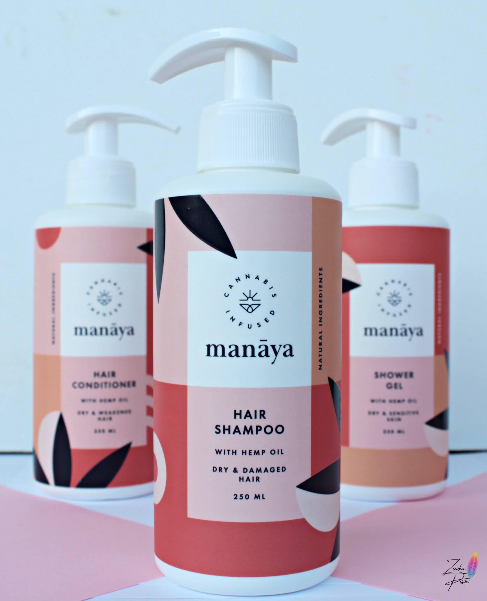 MANAYA szampon do włosów z olejem konopnym