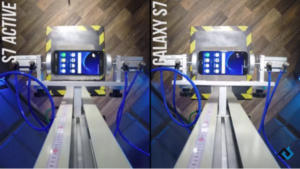 بالفيديو: مقارنة بين صلابة غالاكسي S7 و غالاكسي S7 أكتيف