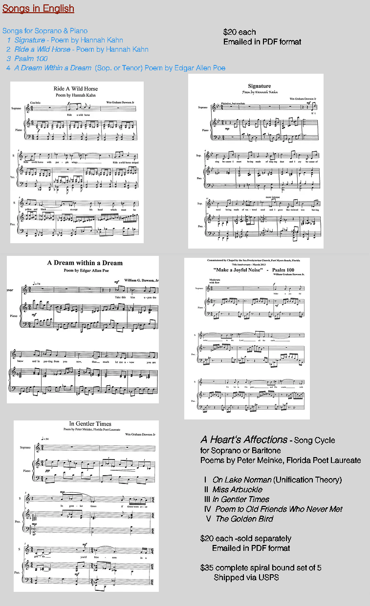 Compositions for Voice ( English )