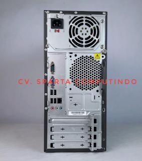 PC Lenovo tampak belakang