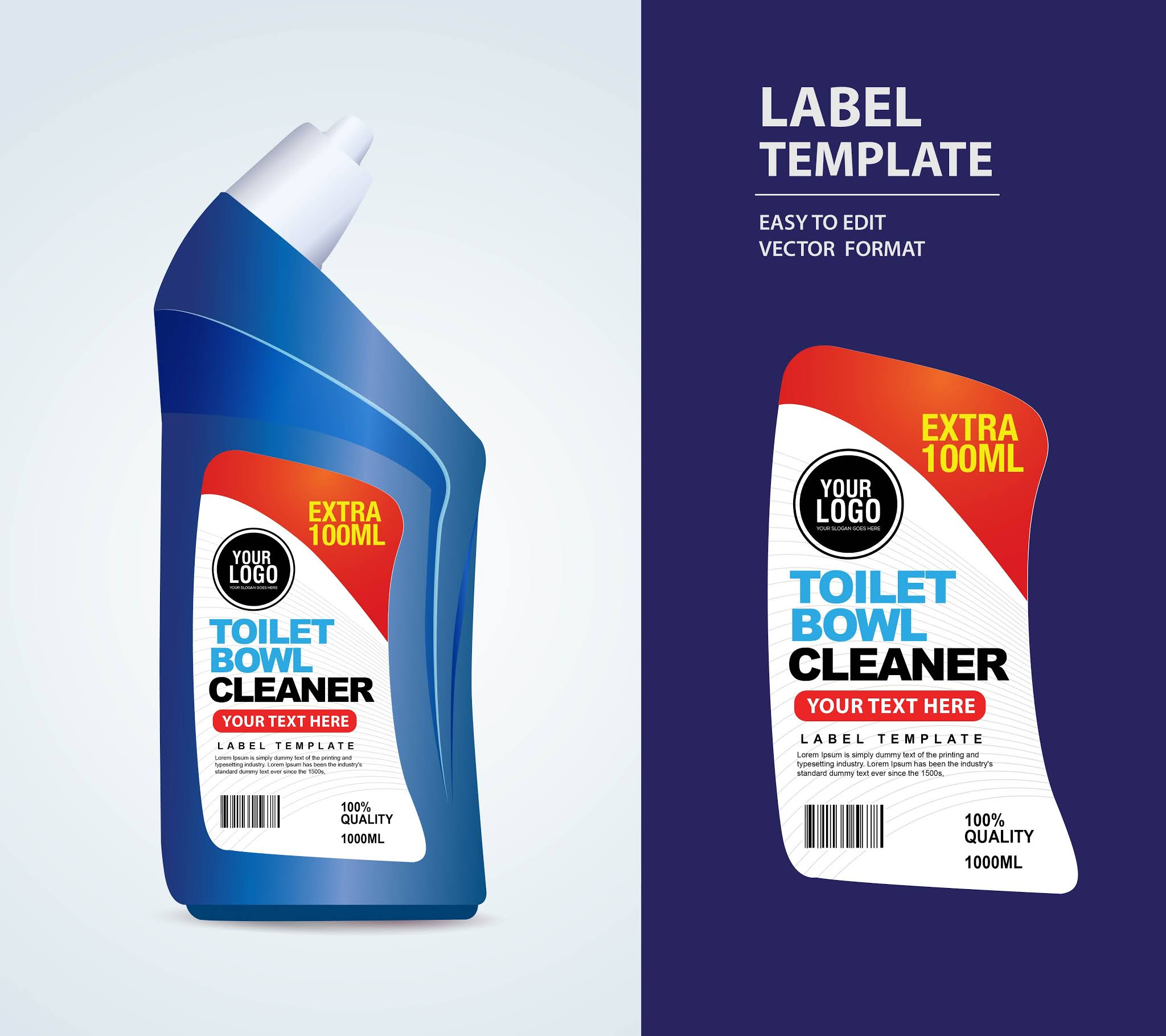 Detergent product designs stickers cleaning products in vector eps format