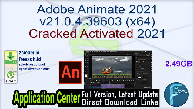 Adobe Animate 2021 v21.0.4.39603 (x64) Cracked Activated 2021