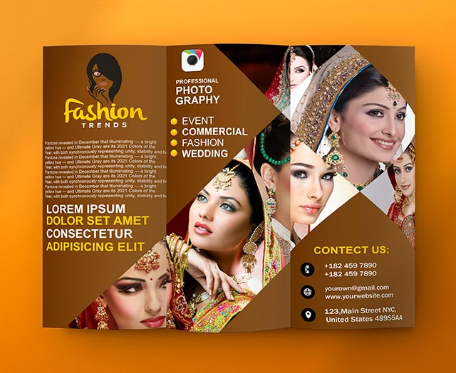 Fashion Trends Trifold Template Coreldraw Design Cdr File Download