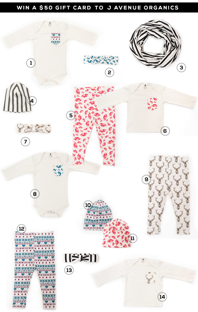 GIVEAWAY // Win a $50 Gift Card to J Avenue Organic Apparel and Bubby & Bean