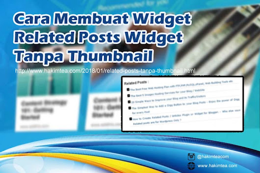 Cara Membuat Widget Related Posts Widget Tanpa Thumbnail