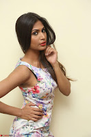 Nishi Ganda stunning cute in Flower Print short dress at Tick Tack Movie Press Meet March 2017 157.JPG