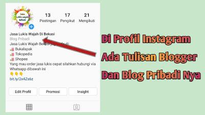 membuat tulisan blog pribadi di instagram