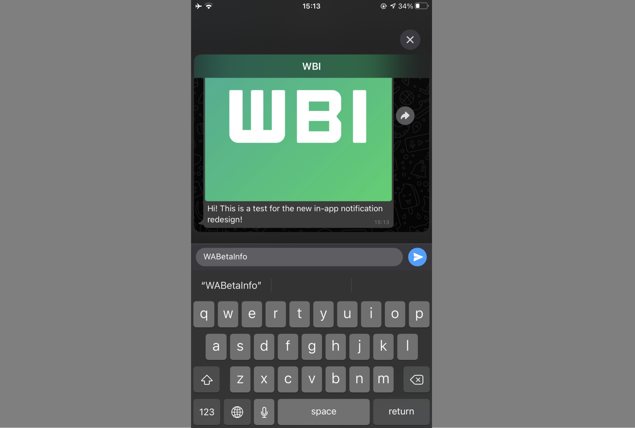 Whatsapp allows users to scroll messages through the notifications window with a new feature in the iOS Beta update