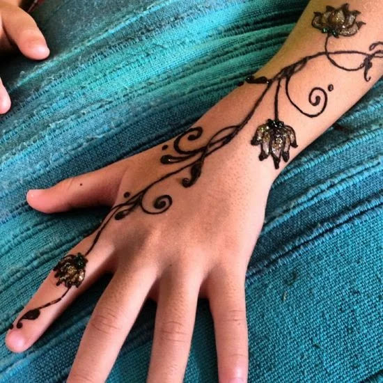 Indian Arabic mehandi designs