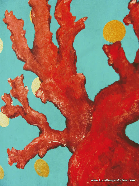 red sea coral original acrylic painting