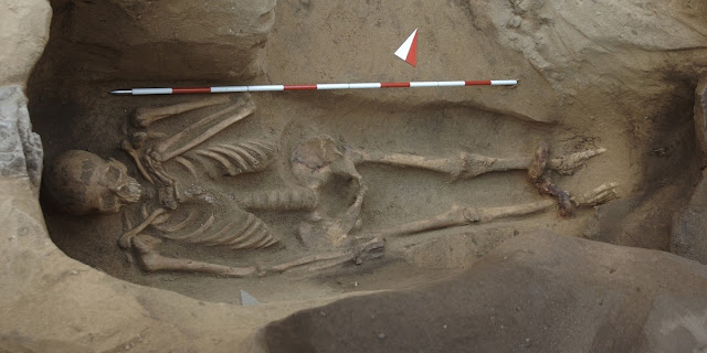 Shackle bound skeleton found in Etruscan burial