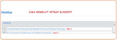 Cara Membuat Sitemap Blogger Dengan Mudah 100% Work