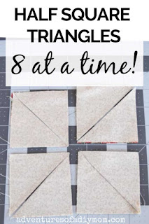 magic 8 half square triangle tutorial