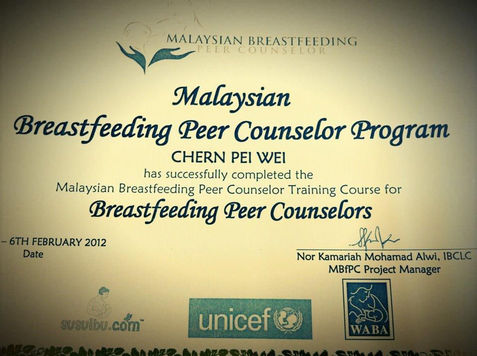 peer certified counselor breastfeeding am land