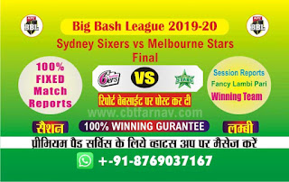 Big Bash Final Melbourne Stars vs Sydney Sixer 100% Sure Tips