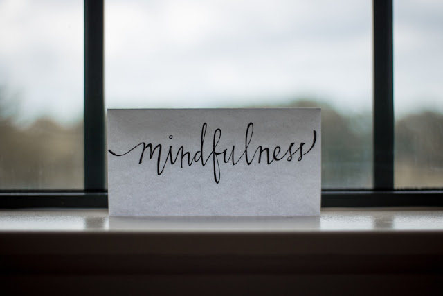 Handwritten 'Mindfulness' Reminder Quote Mantra