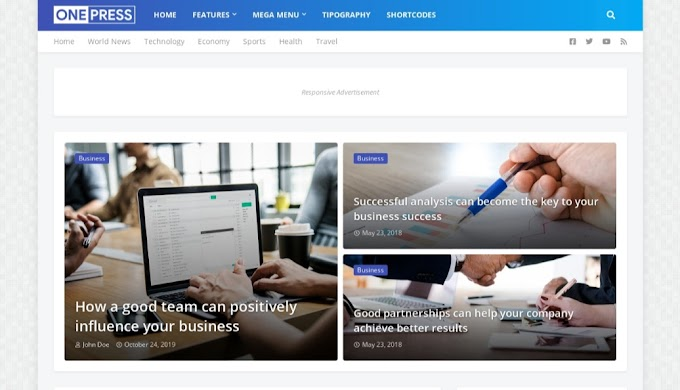 Review tentang OnePress Blogger Template