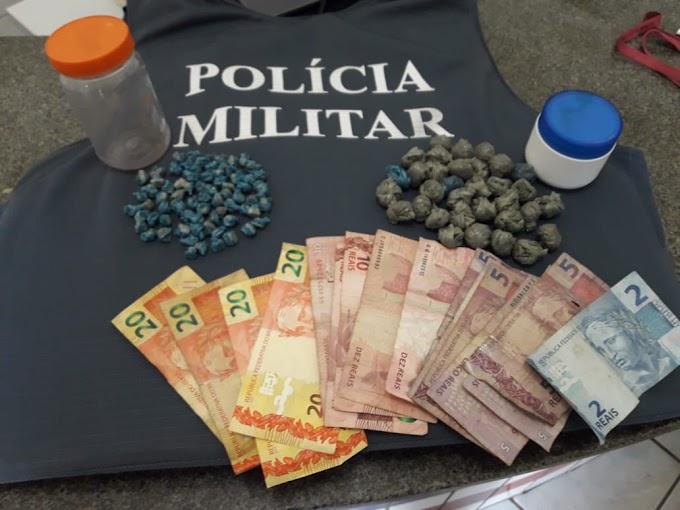 POLÍCIA MILITAR PRENDE EM FLAGRANTE DELITO TRAFICANTE DE DROGAS QUE ATUAVA NA CIDADE DE BREJO/MA