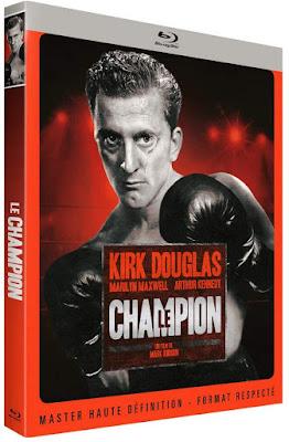 Le Champion Kirk Douglas blu-ray CINEBLOGYWOOD