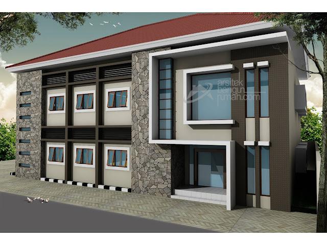 Desain Rumah Kost Eksklusif Dua Lantai