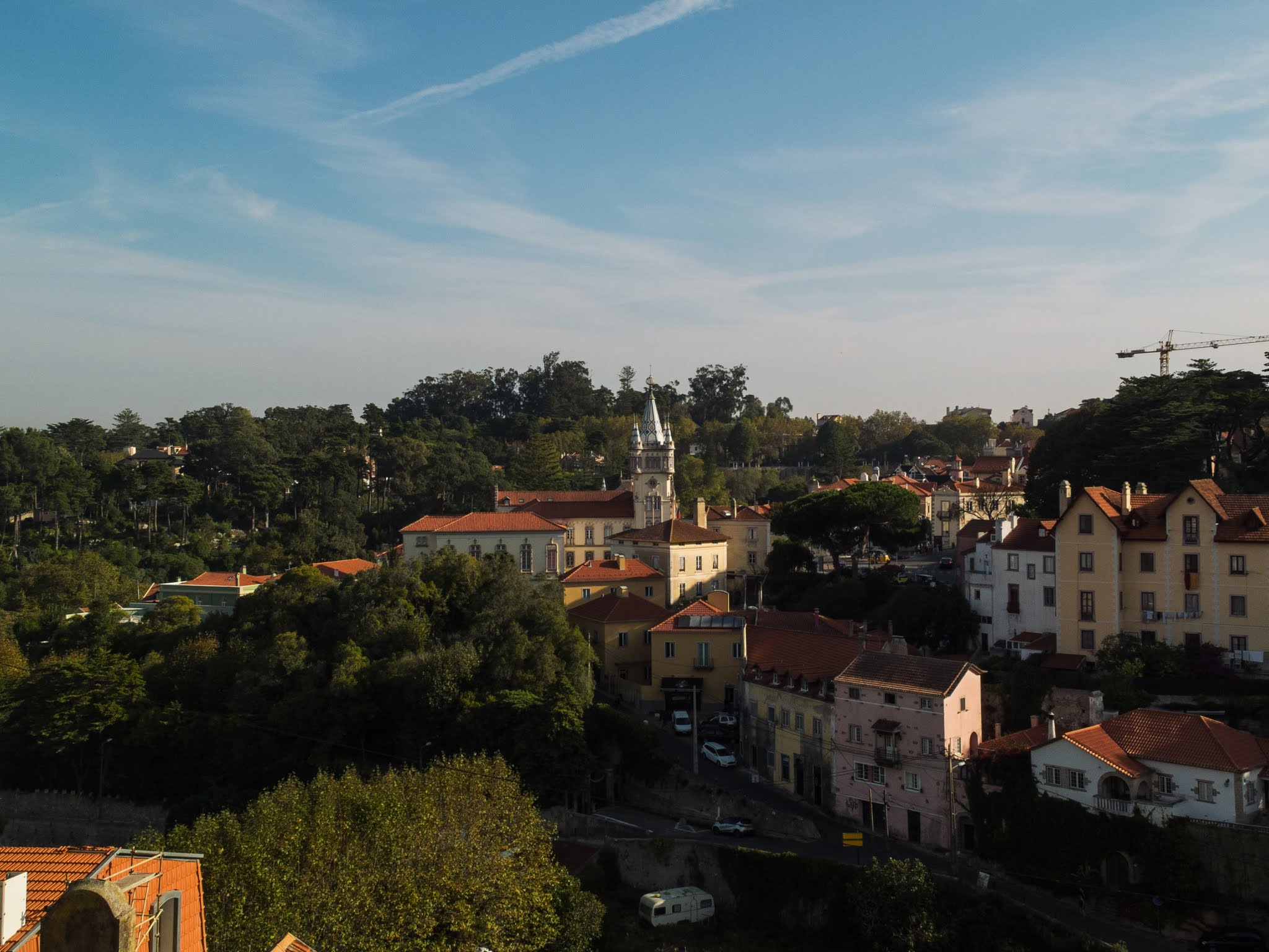 A view of the Sintra Town Hall across the hillside.