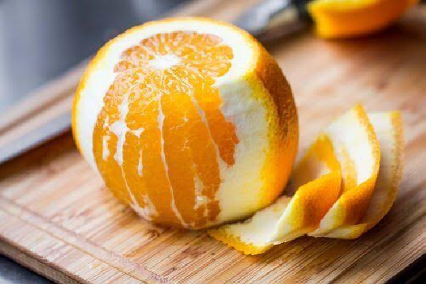 What are the benefits of orange peel skin dry?