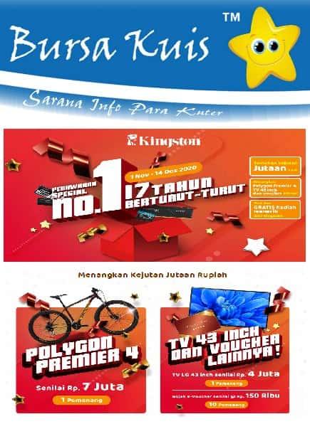 Info Kuis Kingstone Terbaru Berhadiah Sepeda Polygon